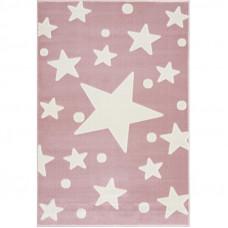Csillagos szőnyeg 100x160 cm - rózsaszín/fehér Előnézet