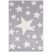 Csillagos szőnyeg 100x160 cm - szürke/fehér