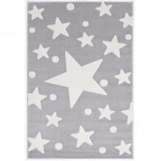 Csillagos szőnyeg 100x160 cm - szürke/fehér Előnézet