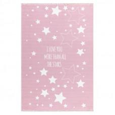 Gyerek szőnyeg csillagos LOVE YOU STARS 140x190 cm - rózsaszín Előnézet