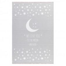 Gyerek szőnyeg holdacskás csillagokkal MOON 100x160 cm - szürke Előnézet