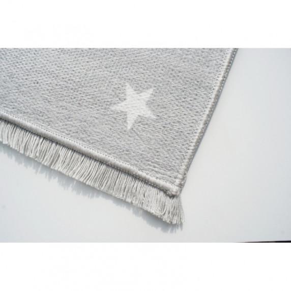 Gyerek szőnyeg holdacskás csillagokkal MOON 100x160 cm - szürke