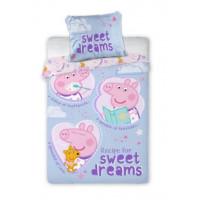 Ágyneműhuzat Peppa Malac Sweet dreams 135 x 100 cm
