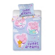 Ágyneműhuzat Peppa Malac Sweet dreams 135 x 100 cm Előnézet