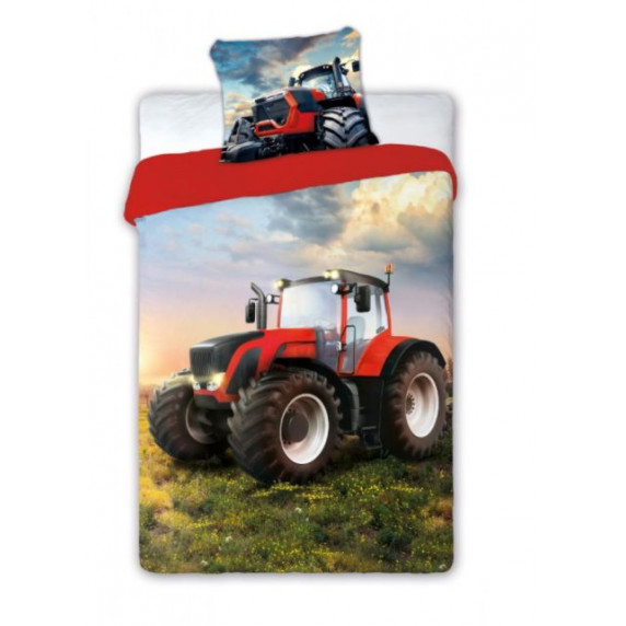 Ágyneműhuzat Traktor 140 x 200 cm