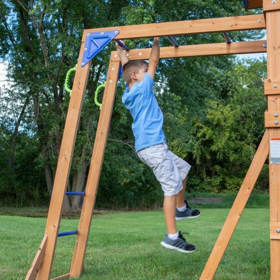 Fa gyerek játszótér csúszdával, hitával, mászófallal AXI NORTHBROOK