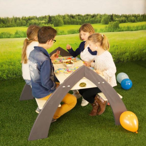AXI KYLO XL Piknik asztal napernyővel