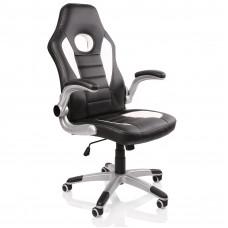 Racing Irodai szék RS066 - Fekete/fehér Előnézet