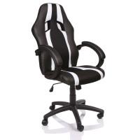 Tresko Racing Irodai szék RS025 - Fekete/fehér