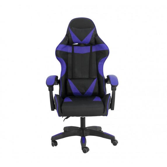 Gamer szék Aga MR2080BLUE - Fekete/kék