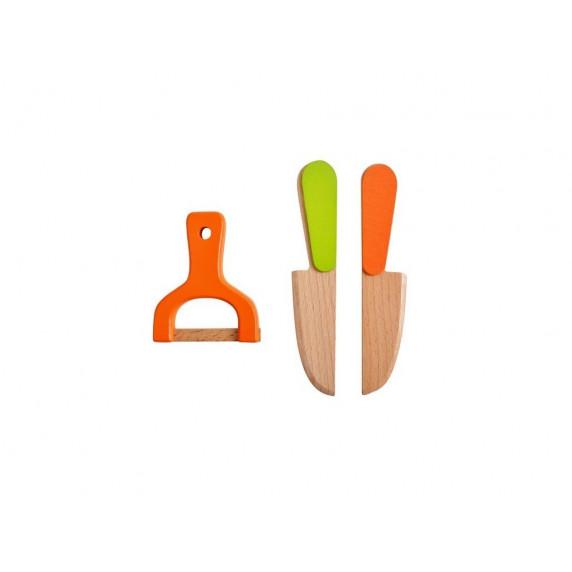 Aga4Kids Fa szeletelhető gyümölcsök és zöldségek faládában kiegészítőkkel