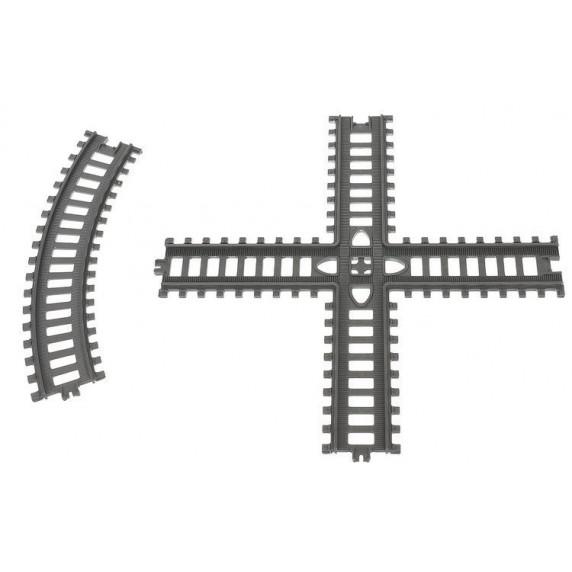 Vasútpálya szett kiegészítőkkel Aga4Kids - 86 darabos