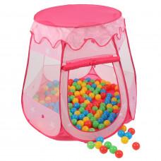 Kiduku Gyerek játszóház labdákkal - Rózsaszín Előnézet