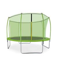 Aga SPORT FIT 366 cm trambulin belső védőhálóval - Világos zöld