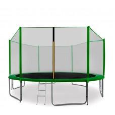 AGA SPORT PRO 400/396 cm trambulin + létra és cipőtartó - Sötét zöld Előnézet