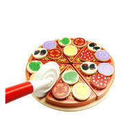 Aga4Kids PIZZA TOY szeletelt fa pizza