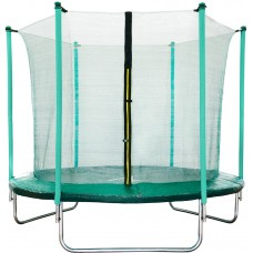 Aga SPORT FIT 180 cm trambulin belső védőhálóval - Sötét zöld Előnézet