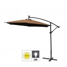 Aga EXCLUSIV LED 300 cm függő napernyő - Sötét barna Előnézet