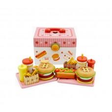 Aga4kids Hamburger Toy bőrönddel Előnézet