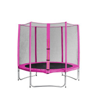 AGA SPORT PRO 250 cm trambulin - Rózsaszín