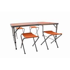 Kemping összecsukható szett Aga - Narancssárga