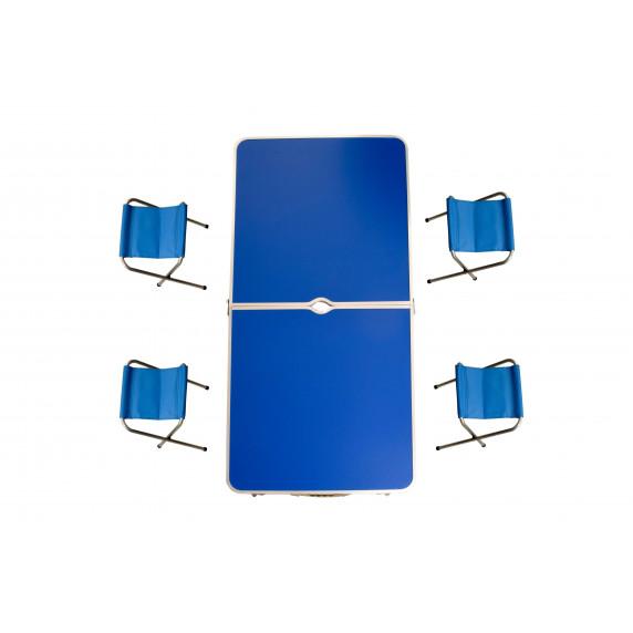 Kemping összecsukható szett Aga - Kék