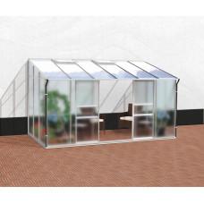 VITAVIA IDA üvegház 7800 matt üveg 4 mm + PC 6 mm - Ezüst Előnézet