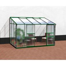 VITAVIA IDA üvegház 6500 matt üveg 4 mm + PC 6 mm - zöld Előnézet