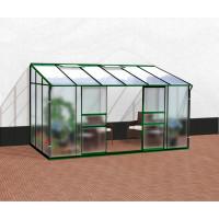 VITAVIA IDA üvegház 7800 matt üveg 4 mm + PC 6 mm - Zöld