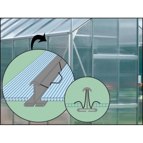 VITAVIA IDA üvegház 3300 PC 4 mm - ezüst
