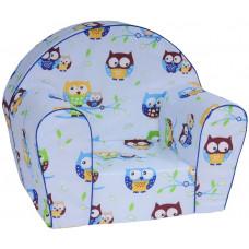 Aga gyerek fotel FBY9 - baglyos kék Előnézet