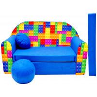 Aga gyerek kanapé MAXX 316 - Építőkockás
