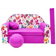 Aga gyerek kanapé MAXX 736 - Pillangós/rózsaszín Előnézet
