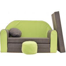 Aga gyerek kanapé MAXX 002 - Zöld/szürke Előnézet