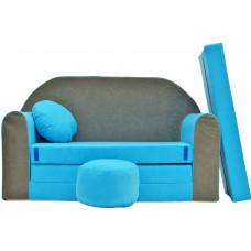 Aga gyerek kanapé MAXX 163 - Kék/szürke Előnézet