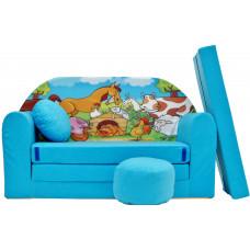 Aga gyerek kanapé MAXX 187 - Farm/kék Előnézet