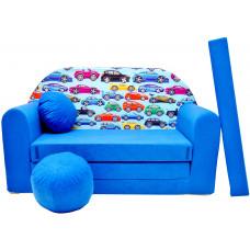 Aga gyerek kanapé MAXX 262 - Autók/kék Előnézet