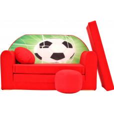 Aga gyerek kanapé MAXX 323 - Focilabda/piros Előnézet