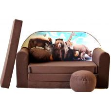 Aga gyerek kanapé MAXX 651 - Zoo/barna Előnézet
