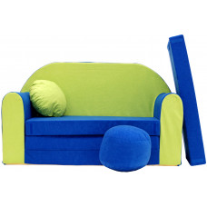 Aga gyerek kanapé MAXX 767 - Kék/zöld Előnézet