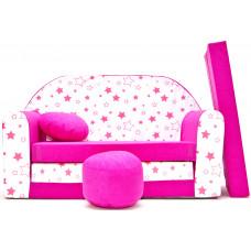 Aga gyerek kanapé MAXX 863 - Csillagos/rózsaszín Előnézet
