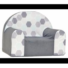 Aga gyerek fotel MAXX 719 - Hatszög minta/szürke Előnézet