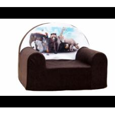 Aga gyerek fotel MAXX 651- Zoo/barna Előnézet