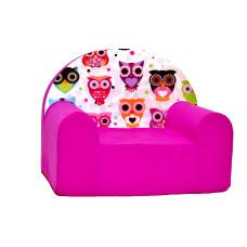 Aga gyerek fotel MAXX 146 - Baglyos/rózsaszín Előnézet