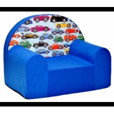 Aga gyerek fotel MAXX 958 - Autók/kék Előnézet