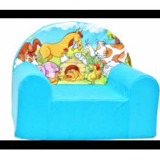 Aga gyerek fotel MAXX 910 - Farm/kék Előnézet