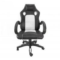 Aga Racing Irodai szék MR2070 - Fekete/fehér
