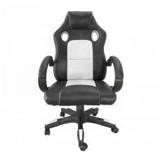 Aga Racing Irodai szék MR2070 - Fekete/fehér Előnézet