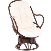 Aga PARUS rattan fotel - Choco White