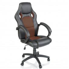 Aga Racing Irodai szék - Fekete/barna Előnézet